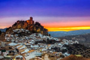 Beautiful pueblo blanco of Montefrio Andalucia white town