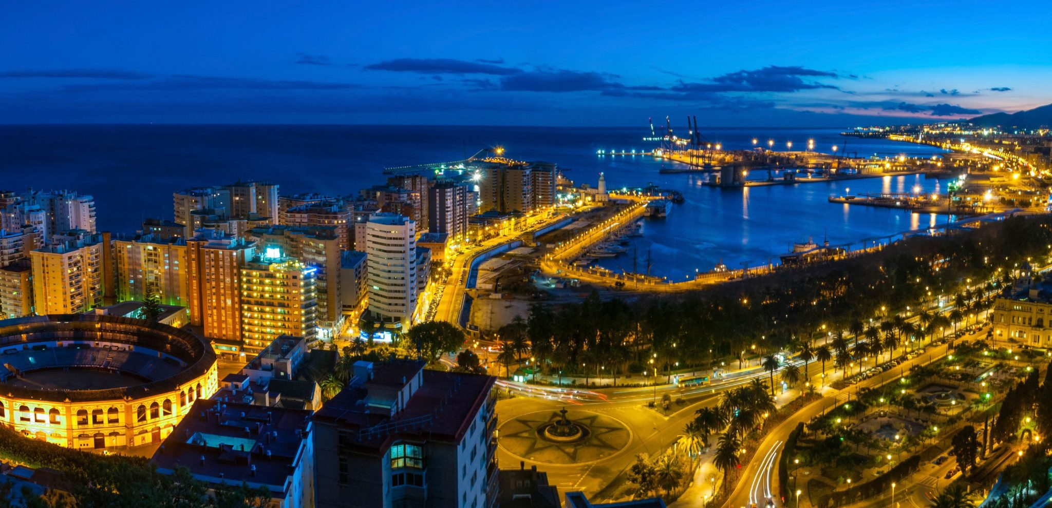 Yourandalusia.com - Travels in Andalucia - Tours in Southern Spain - Malaga at night - Yourandalusia FAQs